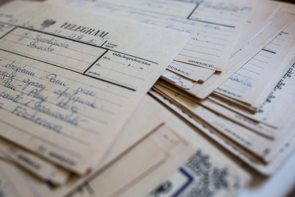 2. Telegramy_Fot. Olga Świątecka PUAP collective_Muzeum im.A. iJ. Iwaszkiewiczów wStawisku
